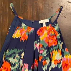 Joie navy floral print high neck blouse